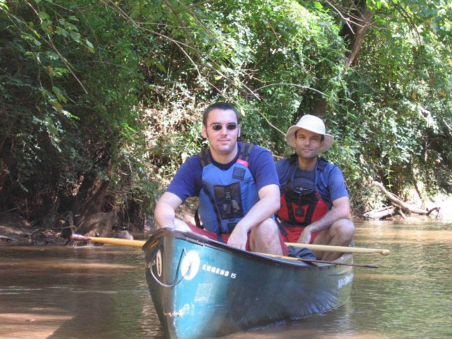Consortium Partners and Project Managers from Upstate Forever, John Tynan and Jason Van Driesche enjoy a paddle on the Reedy River