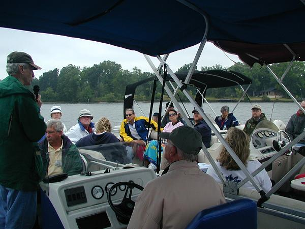 Participants had the opportunity to tour Lake Greenwood on pontoon boats to see and hear about recent findings concerning water-quality research being conducted in the lake ©  John Tynan, 2006