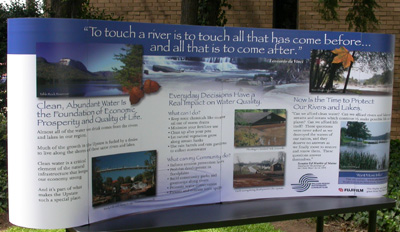 The new educational watershed display coming soon to a festival near you © Upstate Forever